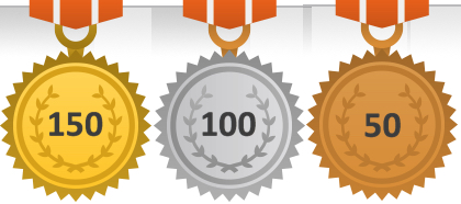 150 Books Read Medal